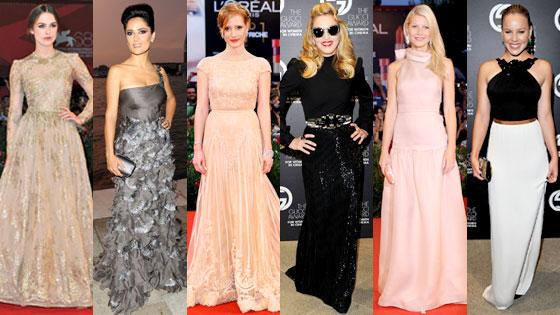 Keira Knightley, Salma Hayek, Jessica Chastain, Madonna, Gwyneth Paltrow, Abbie Cornish