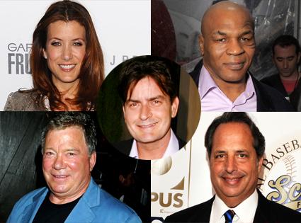 Charlie Sheen, Kate Walsh, Mike Tyson, William Shatner, Jon Lovitz
