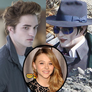 Johnny Depp, Robert Pattinson, Twilight, Chloe Moretz