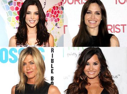 Ashley Greene, Demi Lovato, Angelina Jolie, Jennifer Aniston