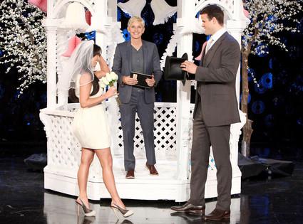 Kim Kardashian, Kris Humphries, Ellen DeGeneres Show