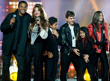 Jermaine Jackson, LaToya Jackson, Prince Michael Jackson, Blanket Jackson, Paris Jackson, Michael Forever Tribute Concert