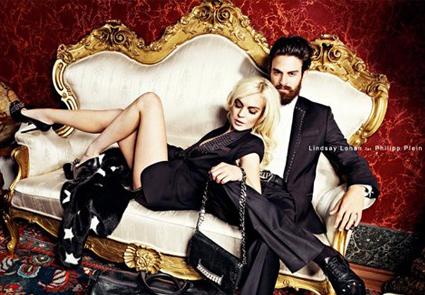 Lindsay Lohan, Phillip Plein Ad