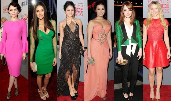 Nina Dobrev, Demi Lovato, Emma Stone, Kristen Bell, Vanessa Hudgens, Ginnifer Goodwin