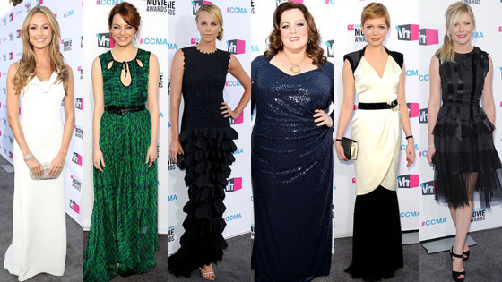 Michelle Williams, Emma Stone, Charlize Theron, Kirsten Dunst, Melissa McCarthy, Stacy Keibler