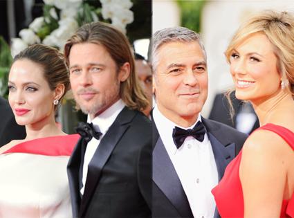 George Clooney, Stacy Keibler, Angelina Jolie, Brad Pitt