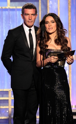 Antonio Banderas, Salma Hayek, Golden Globes