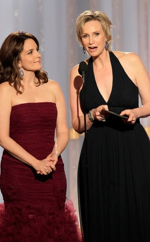 Tina Fey, Jane Lynch, Golden Globes