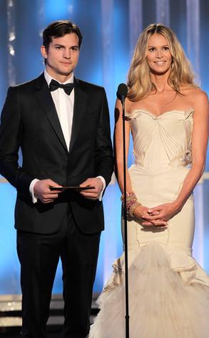 Ashton Kutcher, Elle Macpherson, Golden Globes