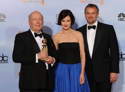 Julian Fellowes, Elizabeth McGovern, Hugh Bonneville, Golden Globes