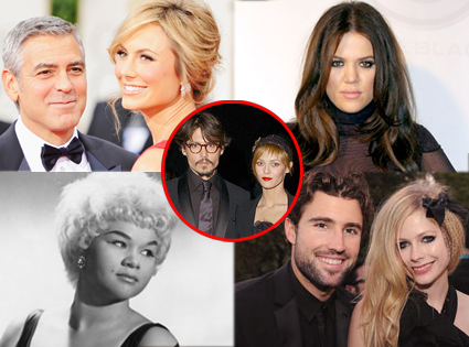 For week in review split George Clooney, Stacy Keibler, Khloe Kardashian, Vanessa Paradis, Johnny Depp, Avril Lavigne, Brody Jenner