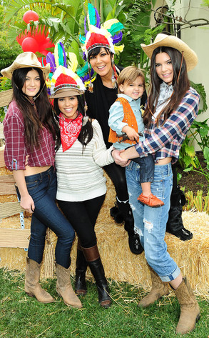 Mason Disick, Kourtney Kardashian, Kris Jenner, Kylie Jenner, Kendall Jenner, 2nd Birthday Party