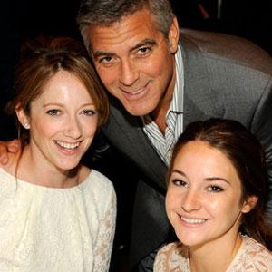 Judy Greer, George Clooney, Shailene Woodley