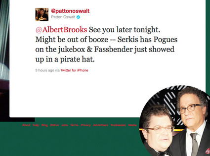 Patton Oswalt, Alberts Brooks, Twitter