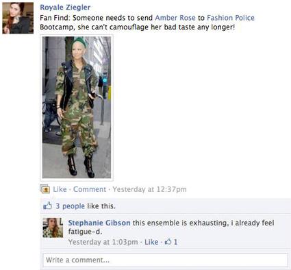 Amber Rose, Facebook
