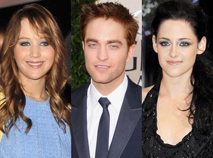 Jennifer Lawrence, Robert Pattinson, Kristen Stewart