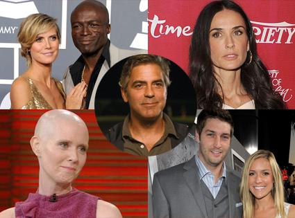 Week in Review, Heidi Klum, Seal, Demi Moore, Cythia Nixon, Jay Cutler, Kristin Cavallari, George Clooney