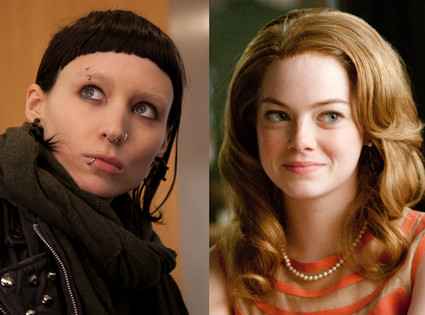 Emma Stone, The Help, Rooney Mara, The Girl With the Dragon Tattoo
