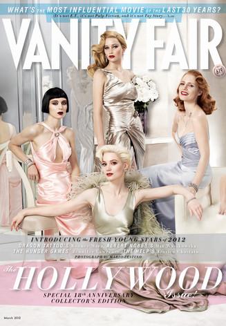 Vanity Fair, Jennifer Lawrence, Rooney Mara, Jessica Chastain, Mia Wasikowska