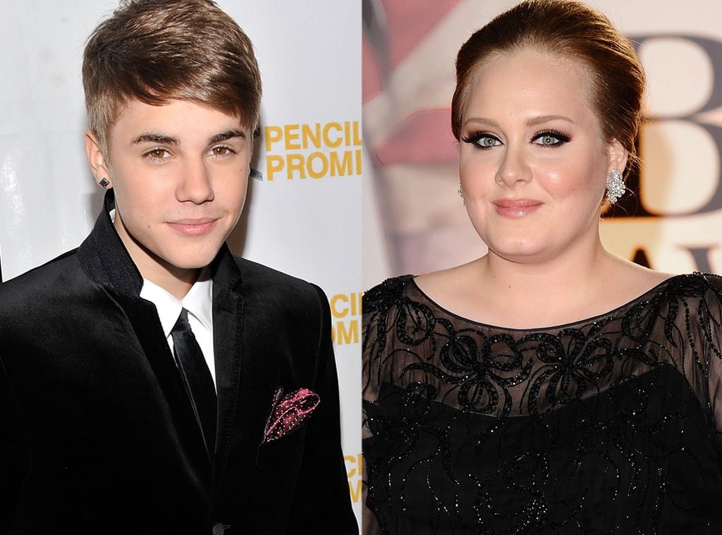 Justin Bieber, Adele