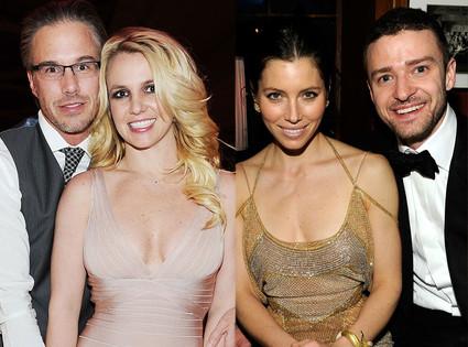 Britney Spears, Jason Trawick, Justin Timberlake, Jessica Biel