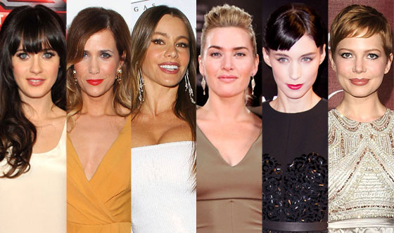 Kate Winslet, Rooney Mara, Michelle Williams, Kristen Wiig, Zooey Deschanel, Sofia Vergara