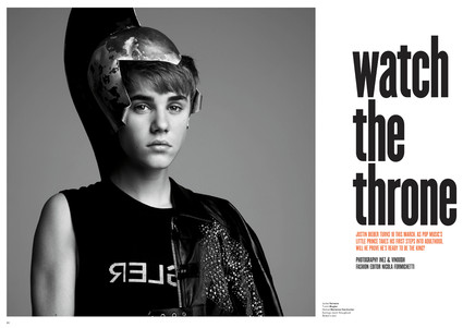 Justin Bieber, V Magazine, do not post till midnight 1/10