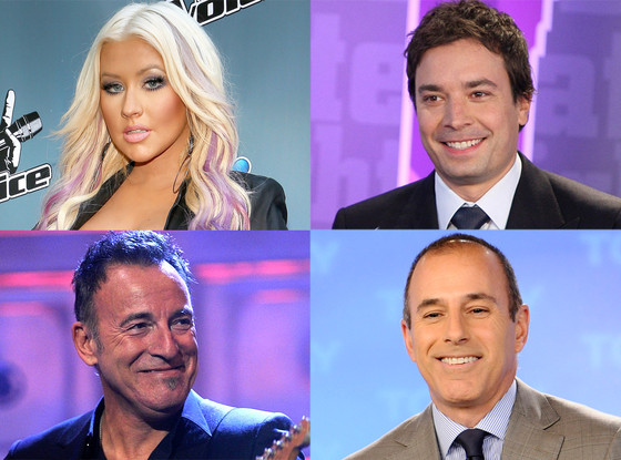 Bruce Springsteen, Jimmy Fallon, Christina Aguilera, Matt Lauer