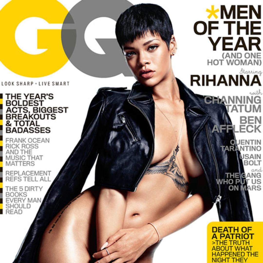 Rihanna Nearly Naked on the Cover of GQ   MissMalini