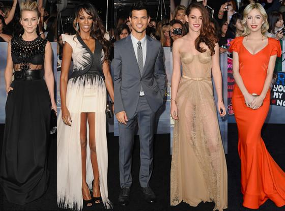 Kristen Stewart, Judi Shekoni, Christian Serratos, Taylor Lautner, Julianne hough