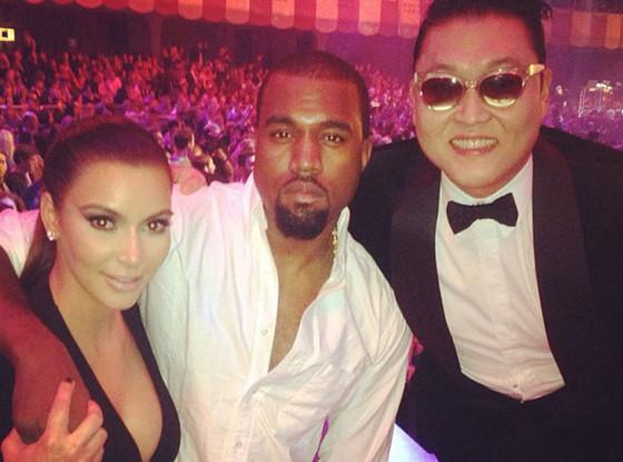 Kim Kardashian, Kanye West, Psy, Twit Pic