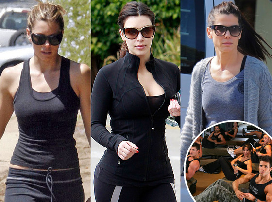 Barry's Bootcamp, Jessica Biel, Kim Kardashian, Sandra Bullock