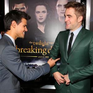 Taylor Lautner, Robert Pattinson, Breaking Dawn Part 2 Premiere