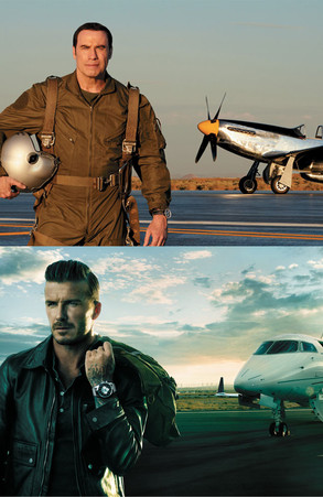 John Travolta, David Beckham, Breitling Ad