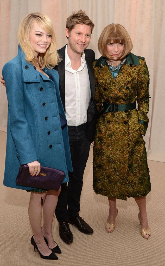 Emma Stone, Christopher Bailey, Anna Wintour