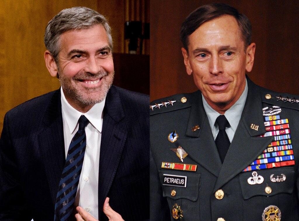 George Clooney, General David Petraeus