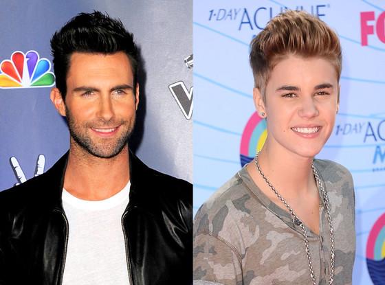 Adam Levine, Justin Bieber