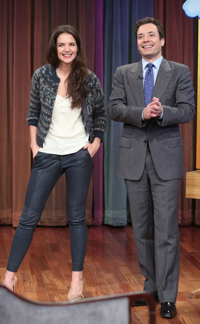 LATE NIGHT WITH JIMMY FALLON, Katie Holmes, Jimmy Fallon