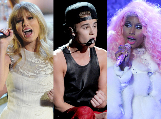 Taylor Swift, Justin Bieber, Nicki Minaj, AMA Show