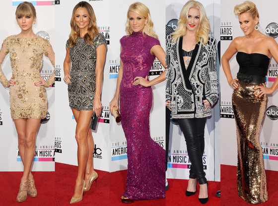Taylor Swift, Stacy Keibler, Carrie Underwood, Gwen Stefani, Jenny McCarthy