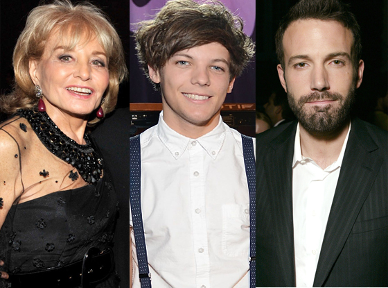 Barbara Walters, One Direction, Ben Affleck