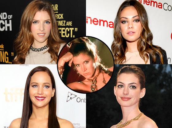 Princess Leia, Mila Kunis, Anne Hathaway, Jennifer Lawrence, Anna Kendrick