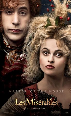 Sacha Baron Cohen, Helena Bonham Carter, Les Miserables poster