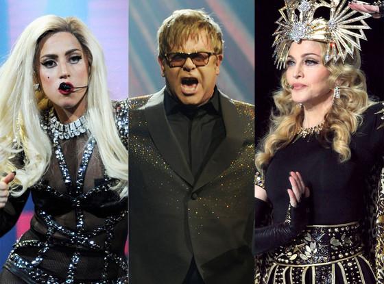 Elton John, Madonna, Lady Gaga