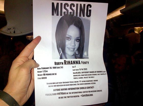 Rihanna Missing Poster
