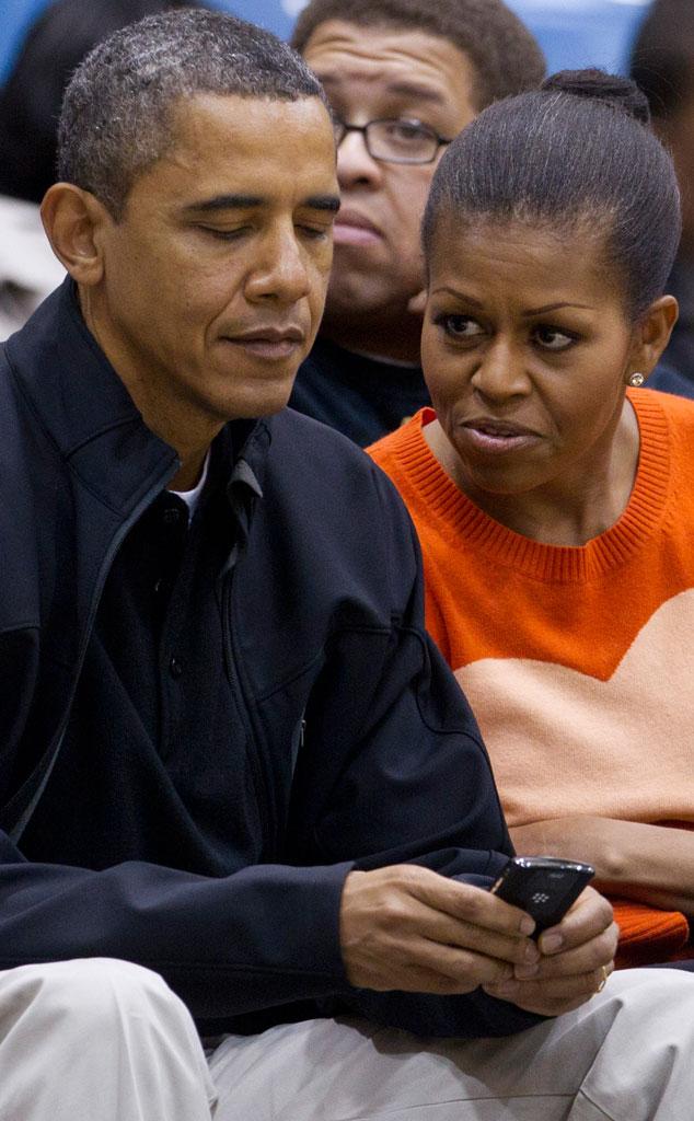 Barack Obama, Michelle Obama Blackberry
