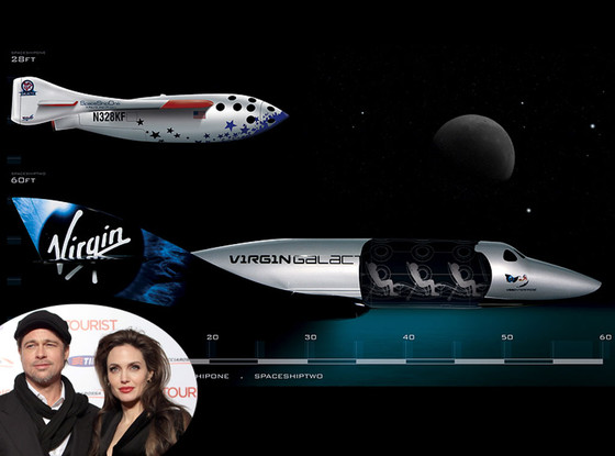 Brad Pitt, Angelina Jolie, Virgin Galactic space ship