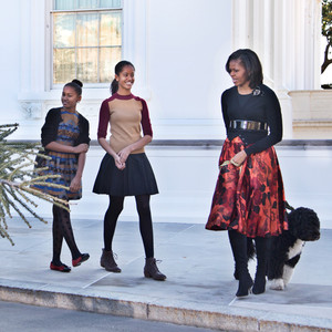 Michelle Obama, Sasha, Malia