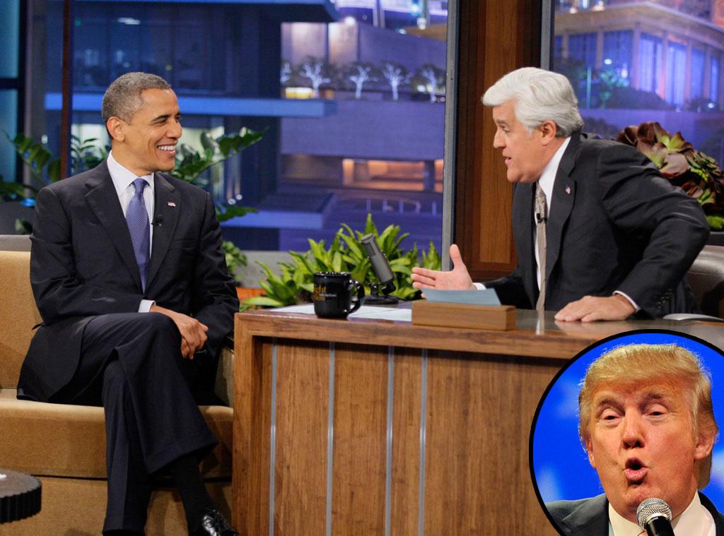 Barack Obama, Jay Leno, Tonight Show, Donald Trump