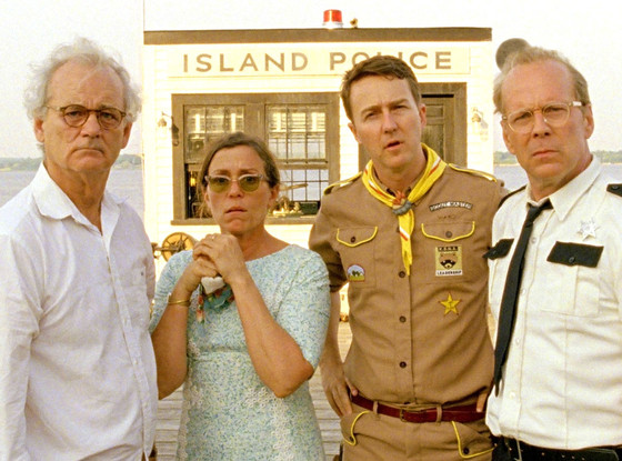 Bill Murray, Frances McDormand, Edward Norton, Bruce Willis, Moonrise Kingdom